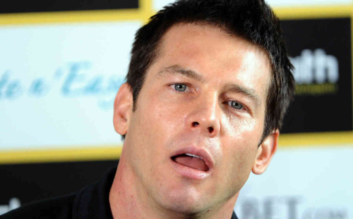 **FILE** A Aug. 17, 2010 file photo of AFL footballer Ben Cousins announces his retirement at the Richmond Football Club in Melbourne. Former Eagles and Richmond AFL star Ben Cousins is in a Perth hospital after falling and hitting his head while undergoing further rehab at a specialist clinic, Wednesday, Jan. 11, 2012.(AAP Image/Julian Smith) NO ARCHIVING